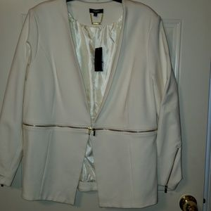 New Blazer/White with gold zippers